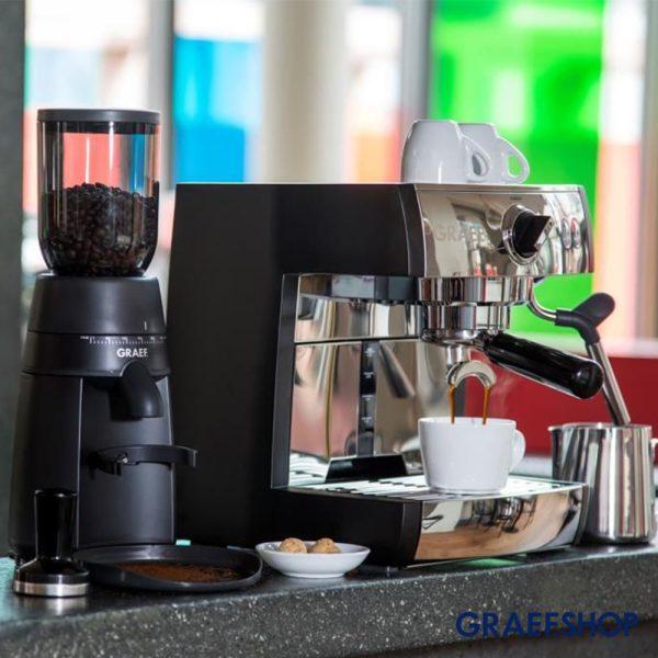 Graef Espressomachine set Pivalla ES702 + CM702